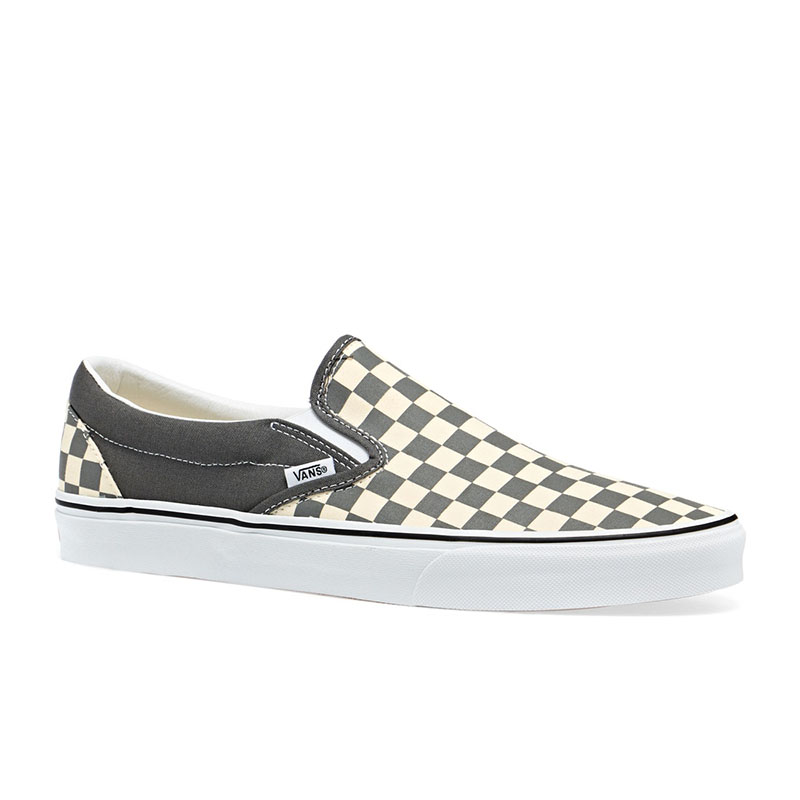 Classic slip on (checkerboard)pewter white