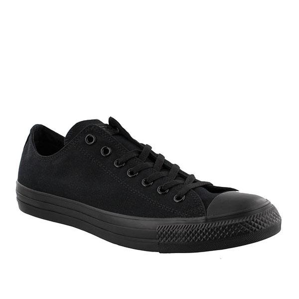 Converse black monochrome low top