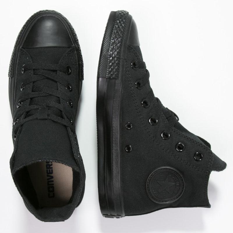 Black monochromatic hi top