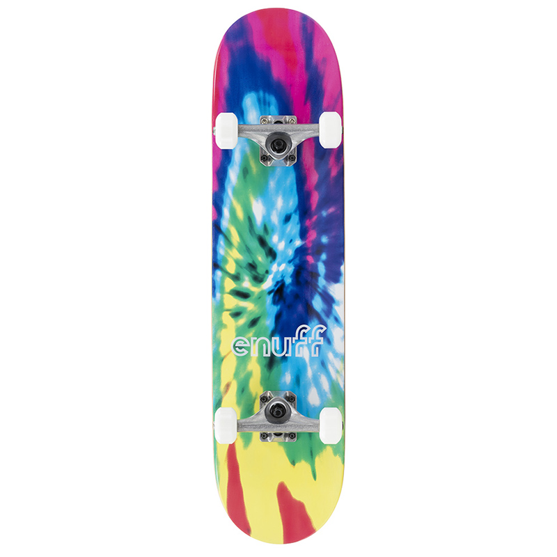 Enuff Multi Coloured Tie-Dye Complete Skateboard 7.75