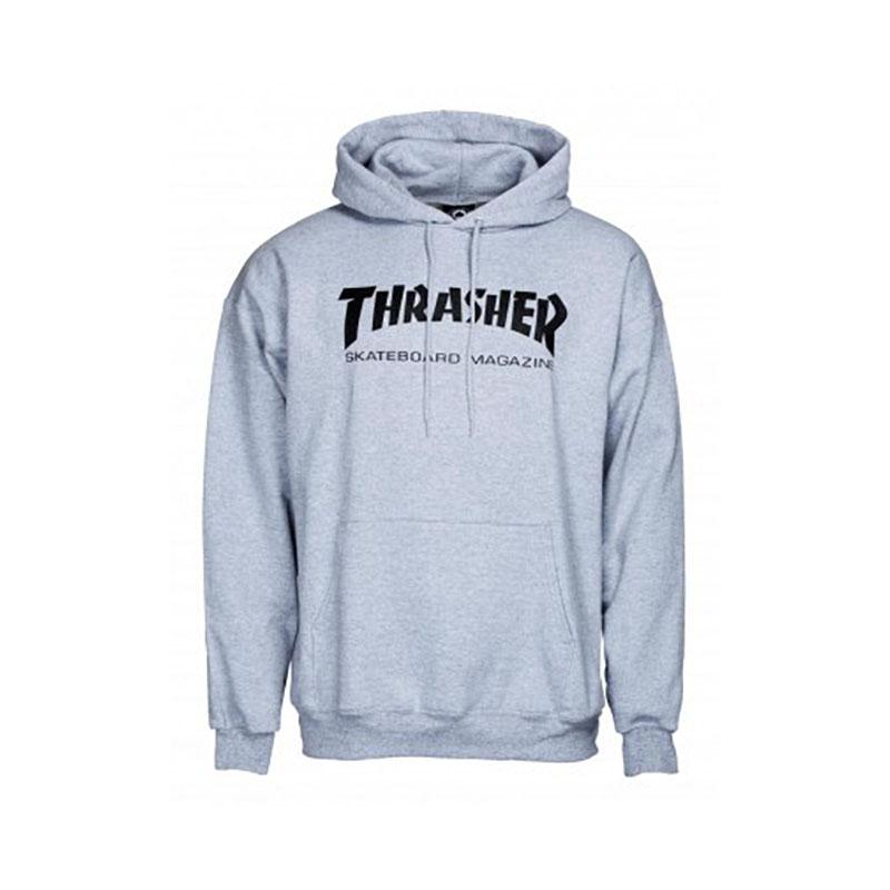 thrasher skate mag hoodie grey