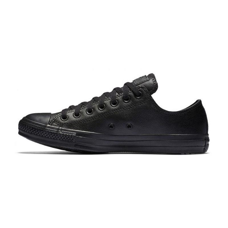 Black monochrome leather