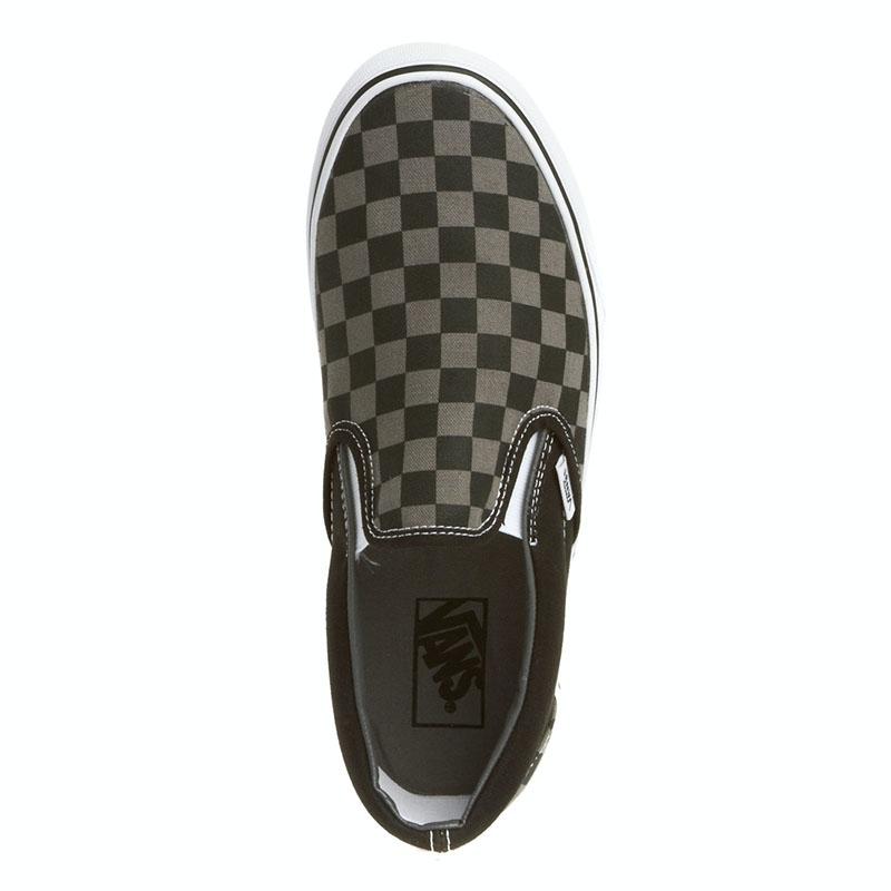 Vans classic slip on pewter black checkerboard