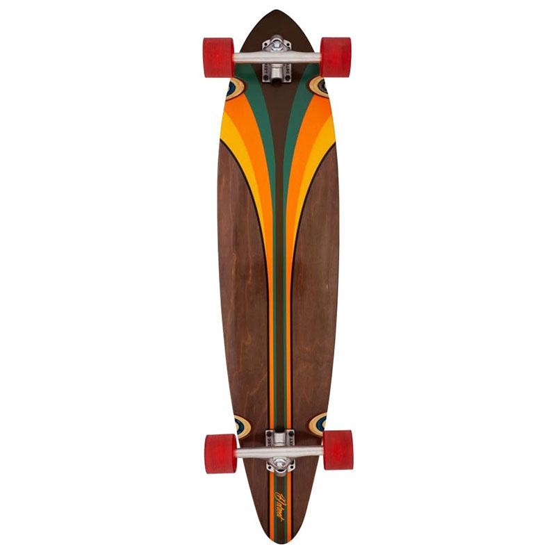 d-street malibu pintail complete longboard multi