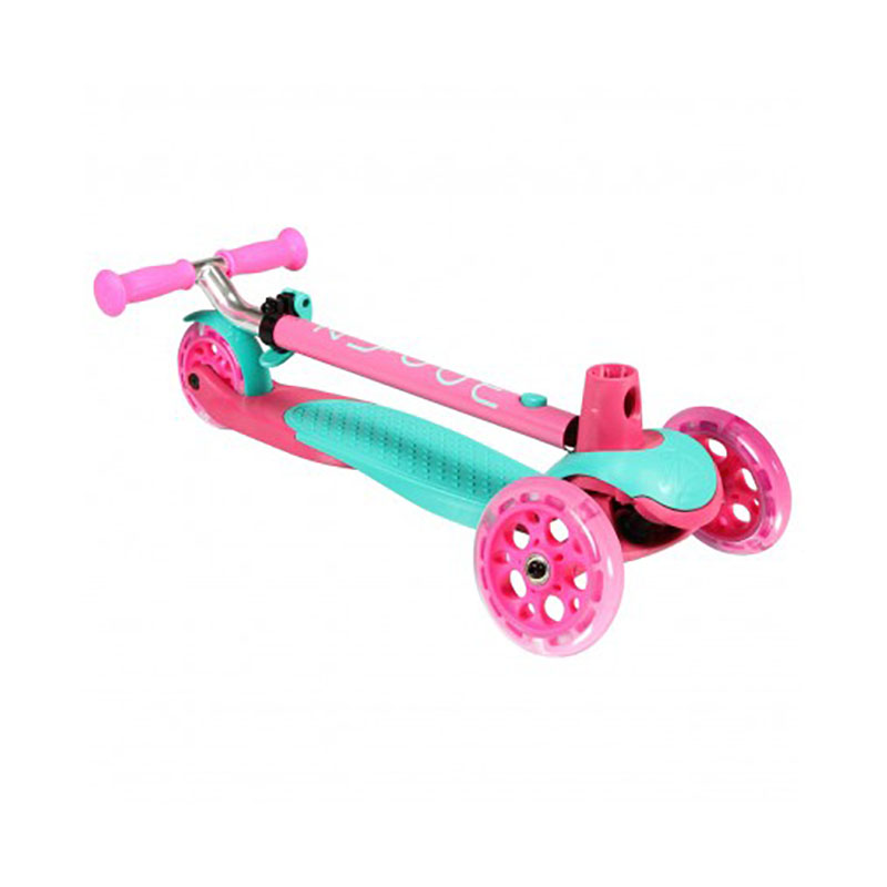 Zycom Zing 3 Wheel Kids Scooter with light up wheels Pink Teal