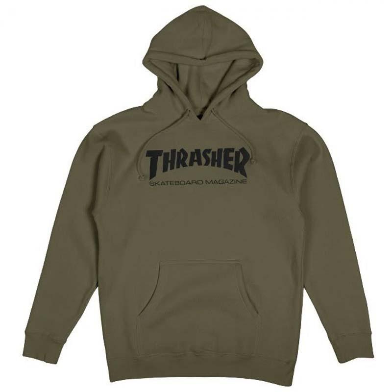 Thrasher Army Green Hoody