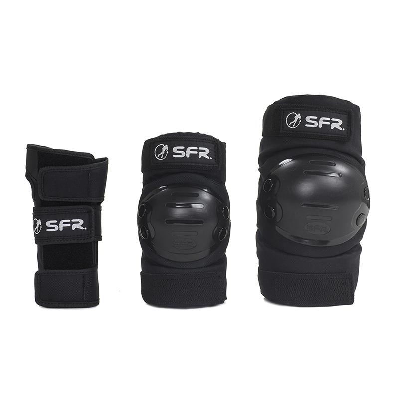 SFR Youth Ramp Triple Pad Set in Black