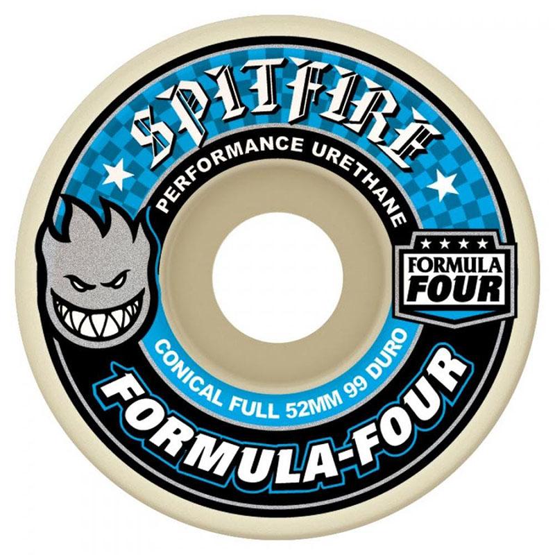 Spitfire Formula Four Conical Full Skateboard Wheels 52mm 99a