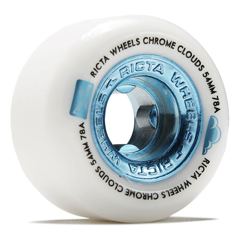 Ricta Chrome Clouds Blue 54mm 78a Skateboard Wheels
