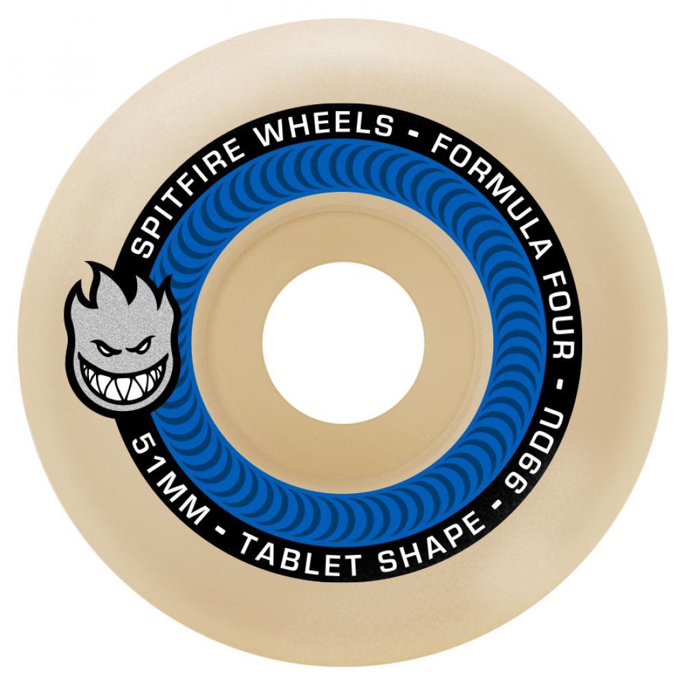 Spitfire Formula Four Tablets 52mm 99a Blue