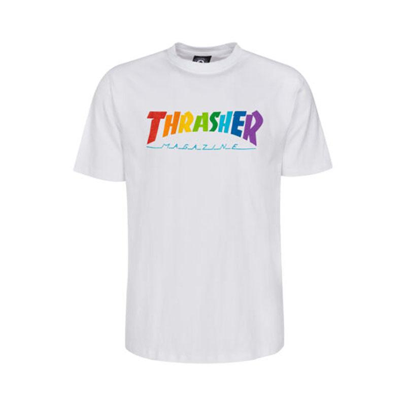 Thrasher Rainbow Mag Tee White