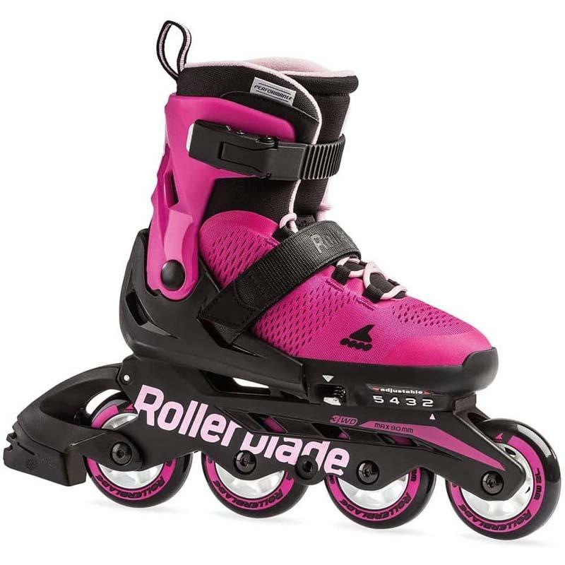 Rollerblade Microblade Girls Rosa Bubblegum Adjustable Inline Skate