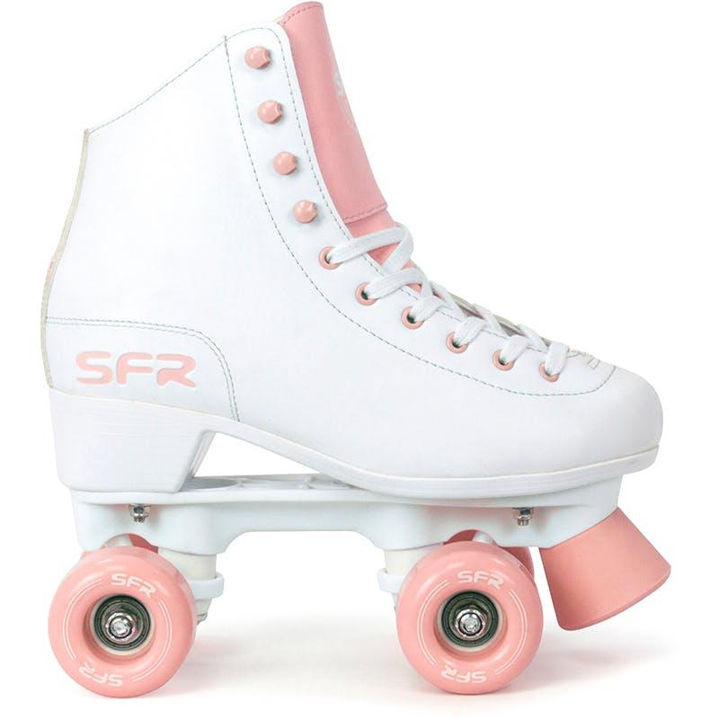 SFR Quad Figure Skates White Pink
