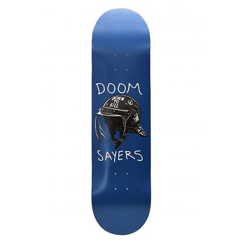 "Doom Sayers Riot Helmet Deck Blue 8.5"""