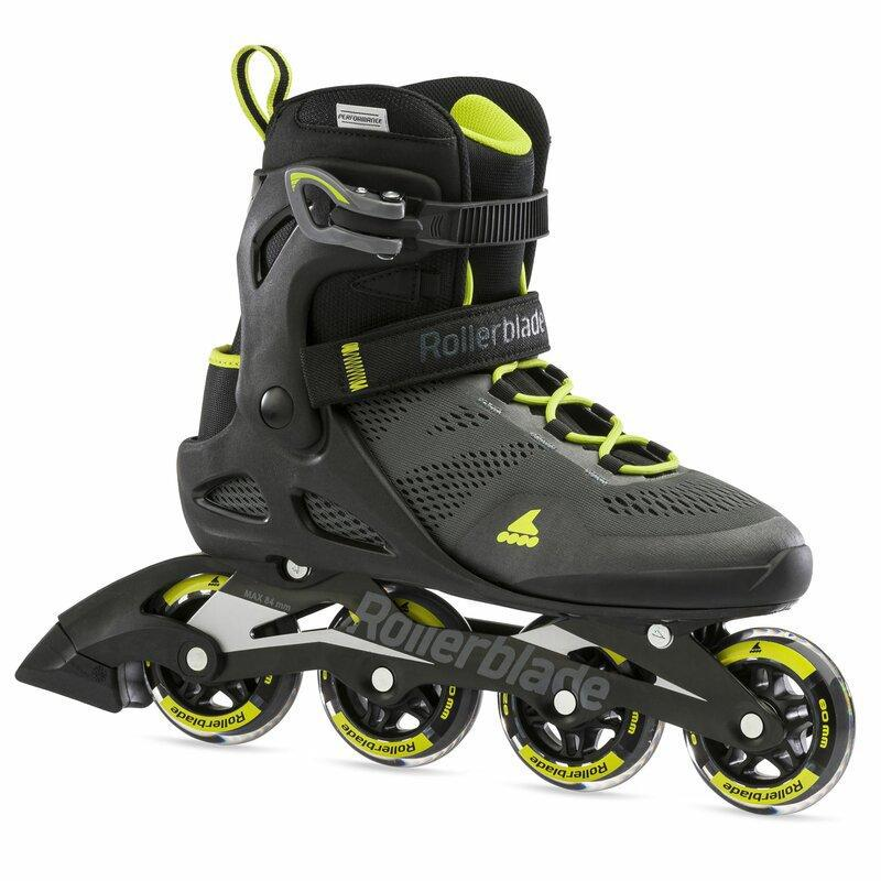 Rollerblade 2021 Macroblade 80 Black/Lime Men's Fitness Inline Skate