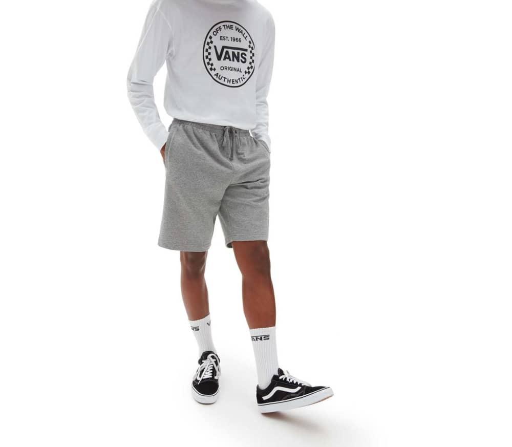 Vans Logo Fleece Shorts - Cement Grey