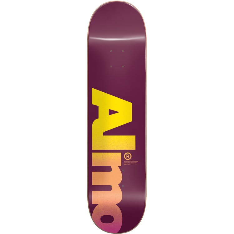 "Almost Fall Off Logo Skateboard Deck 8"""