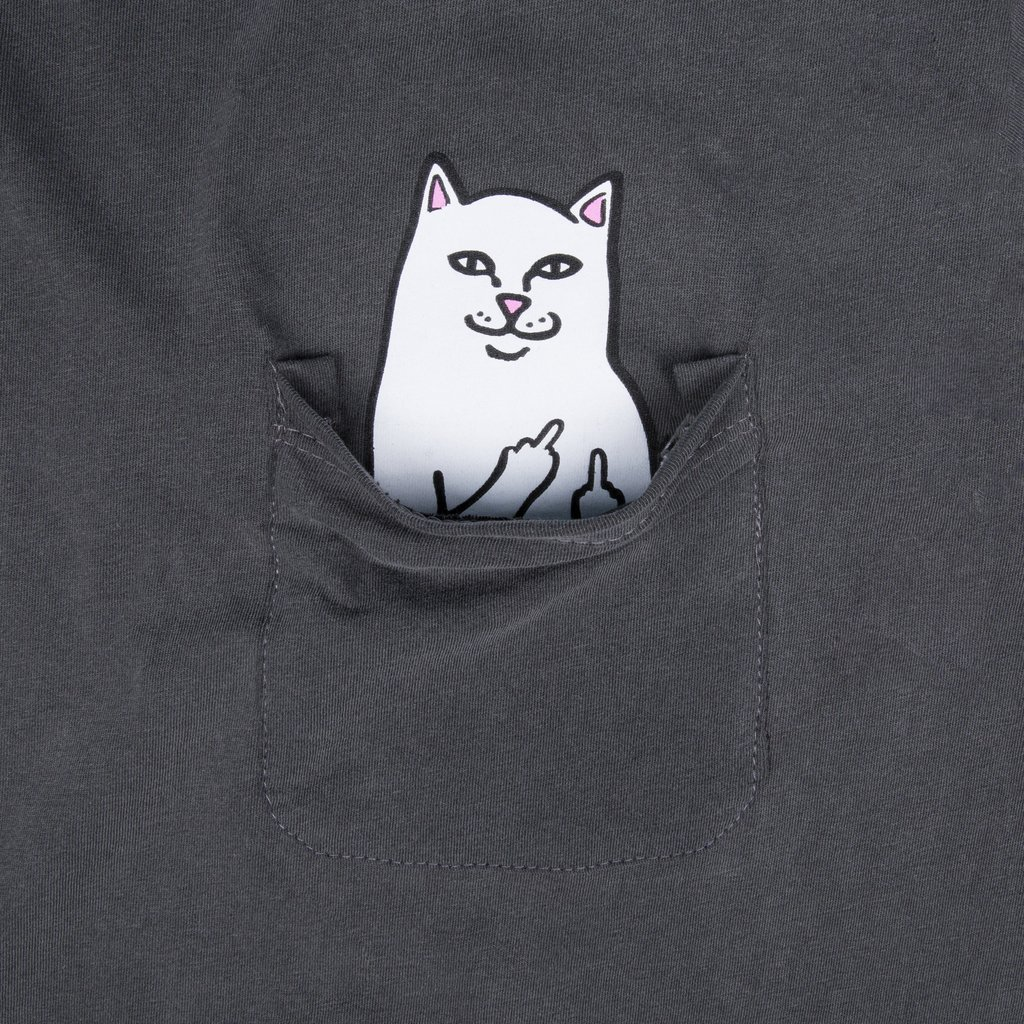 Ripndip Lord Nermal Pocket T-Shirt (Over Dyed Black)
