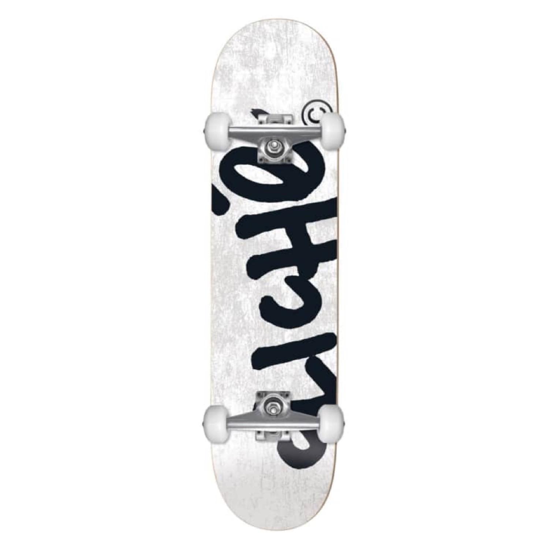 Cliche Handwritten White Complete Skateboard - 8.25