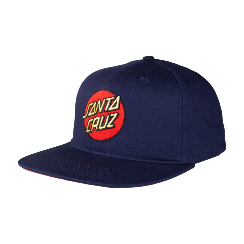 Santa Cruz Cap Classic Dot Snapback Dark Navy