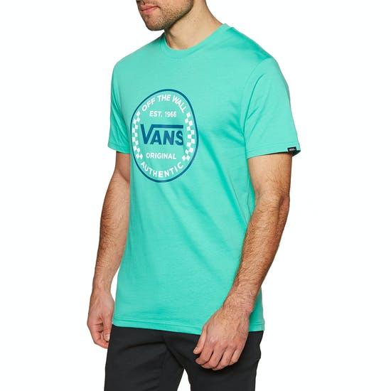 Vans Authentic Checker Short Sleeve T-Shirt waterfall