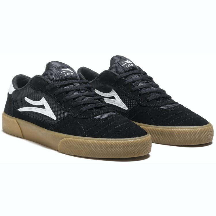 Lakai Cambridge Skate Shoes - Black/Gum Suede
