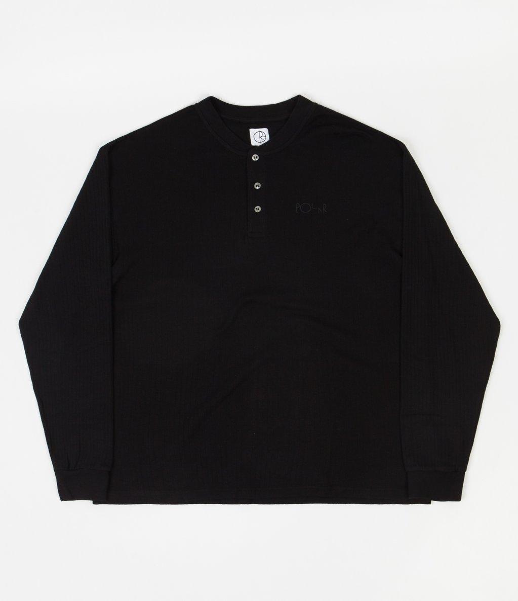 Polar Rib Henley Long Sleeve T-Shirt