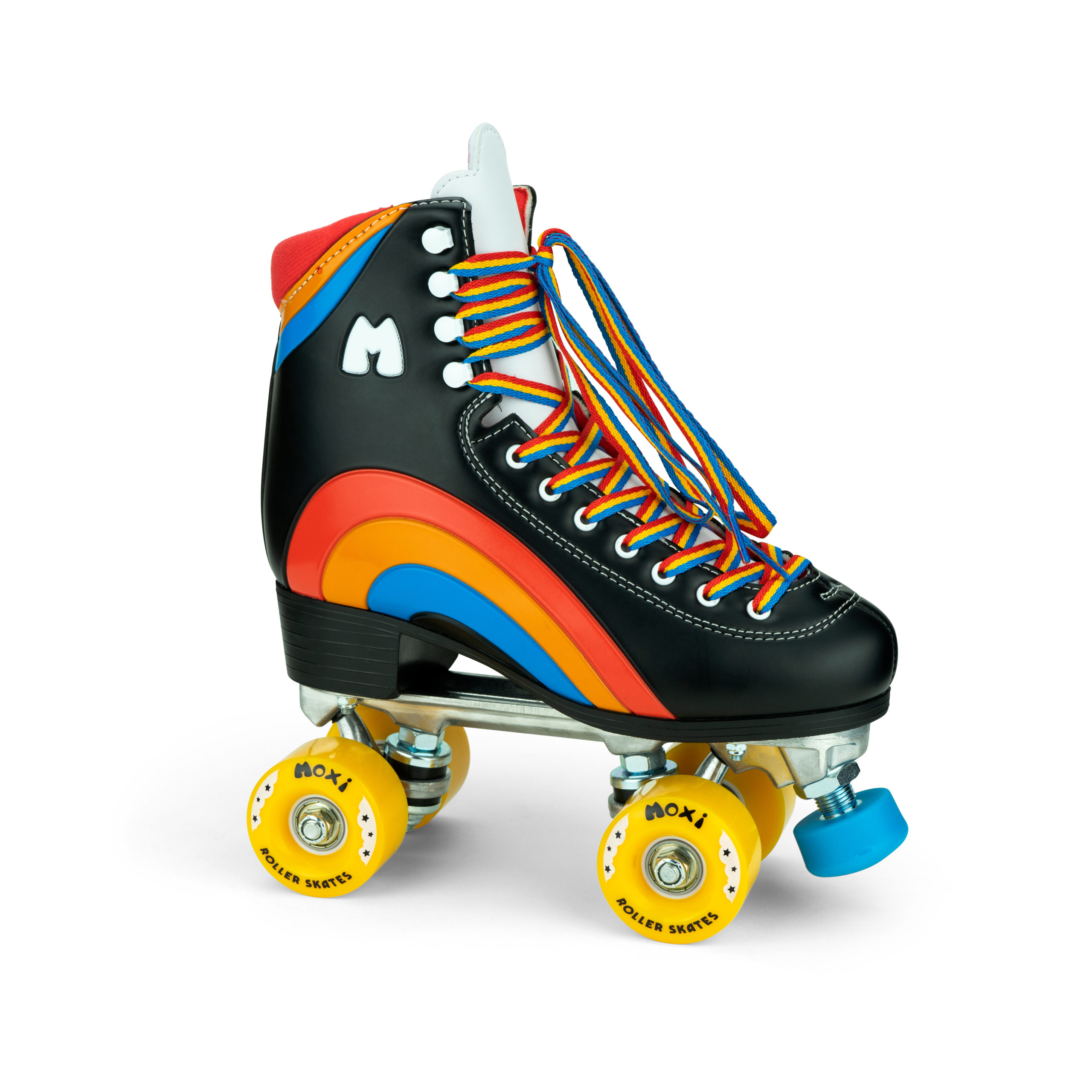 Moxi Rainbow Rider Roller Skates Bubblegum Black