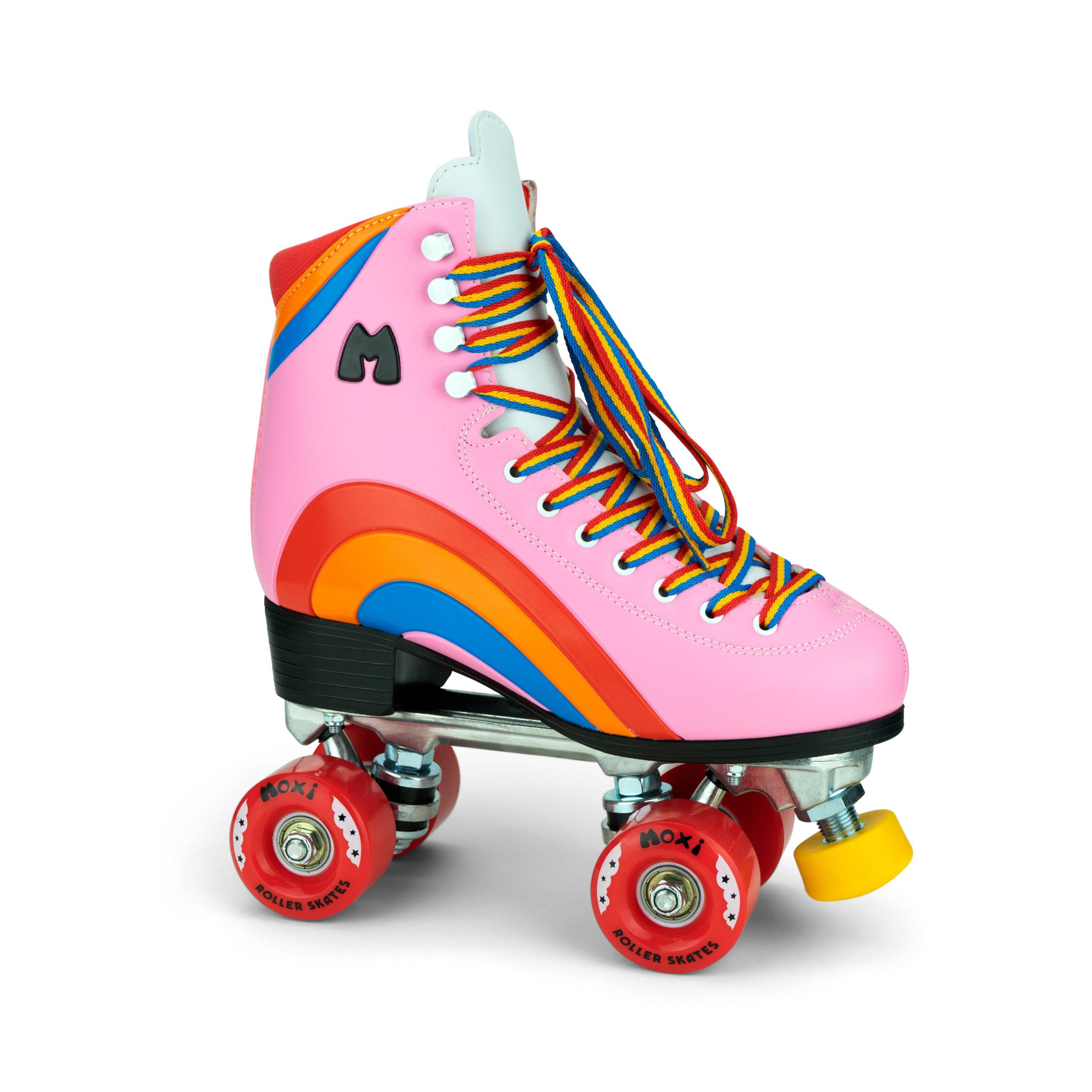 Moxi Rainbow Rider Roller Skates Bubblegum Pink.