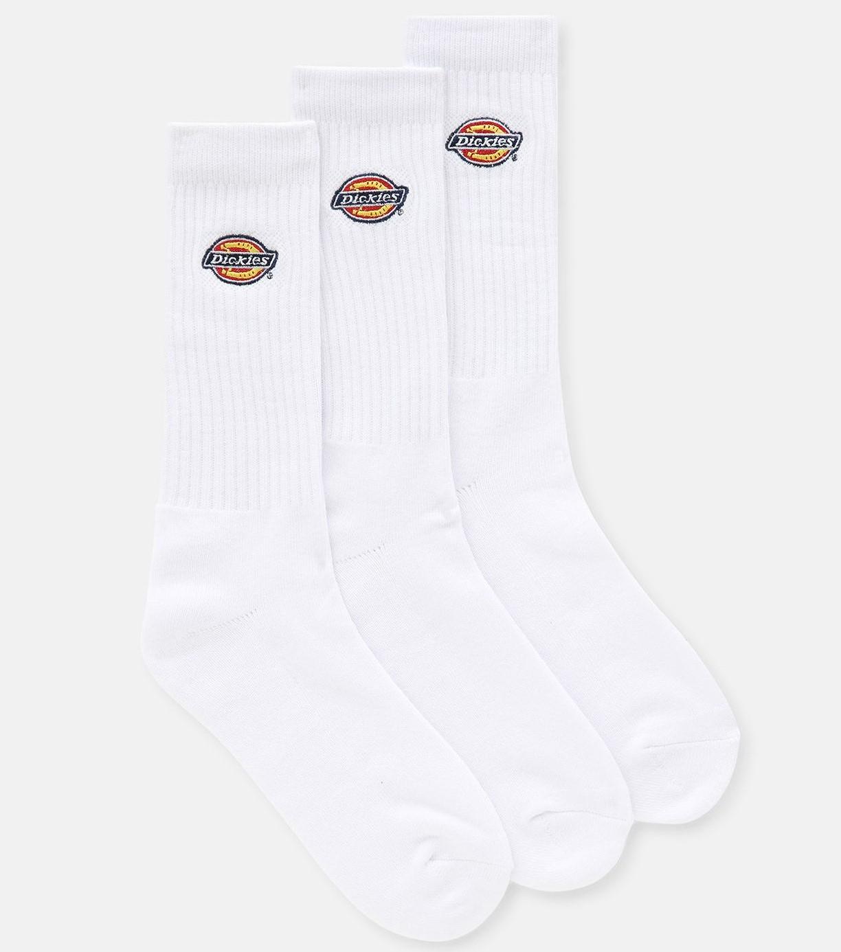 Dickies Valley Grove Small Logo Sport Socks - White