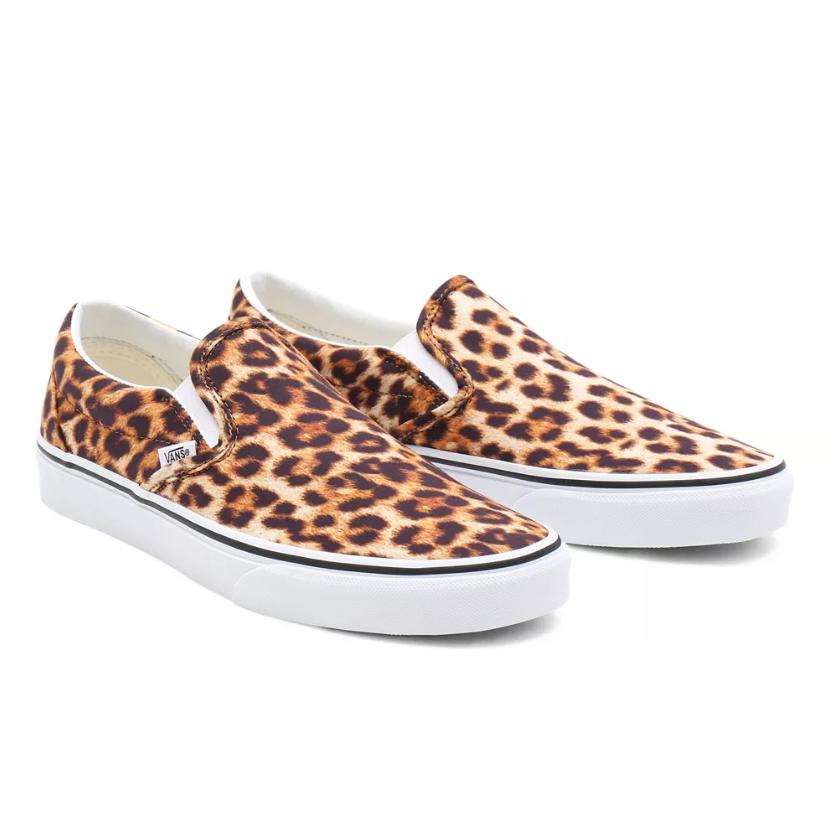Vans Leopard Print Classic Slip-On Shoes
