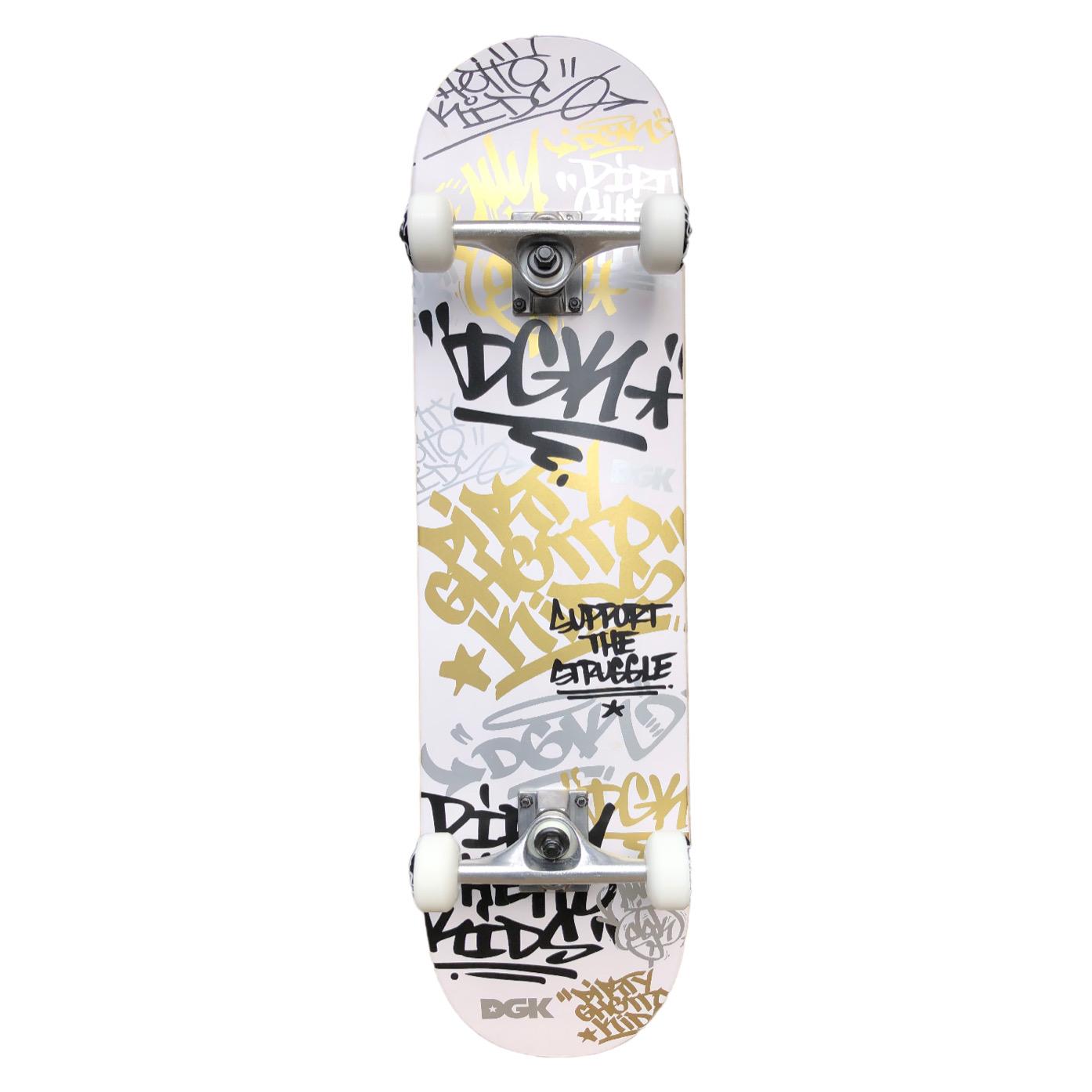 """DGK Skateboards Strength Factory Complete Skateboard White 8"""""""