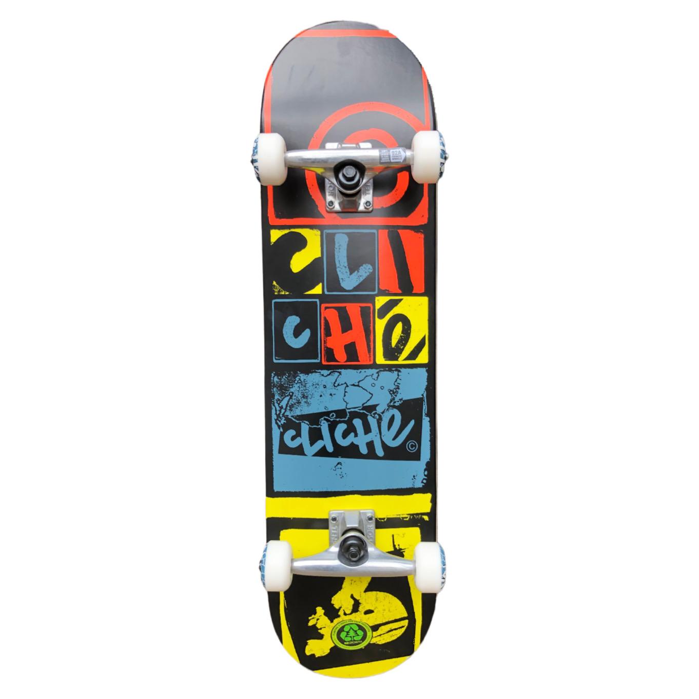 """Cliché Letter Press Complete Skateboard Black 8"""""""