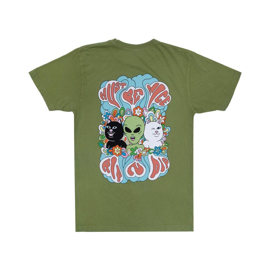 Ripndip Flower Child T-Shirt (Dirty Olive)