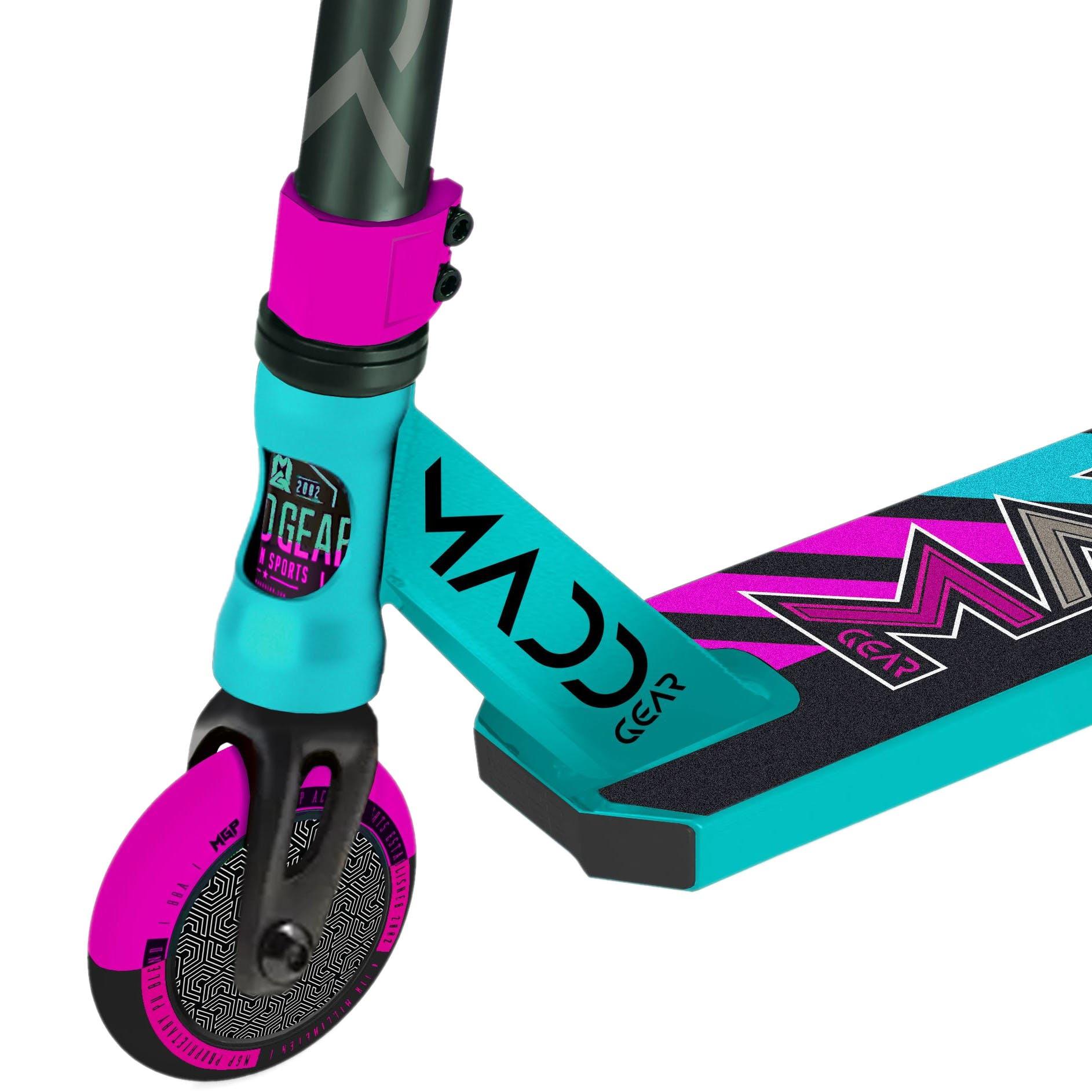 Madd Kick Pro V5 Stunt Scooter Teal / Pink