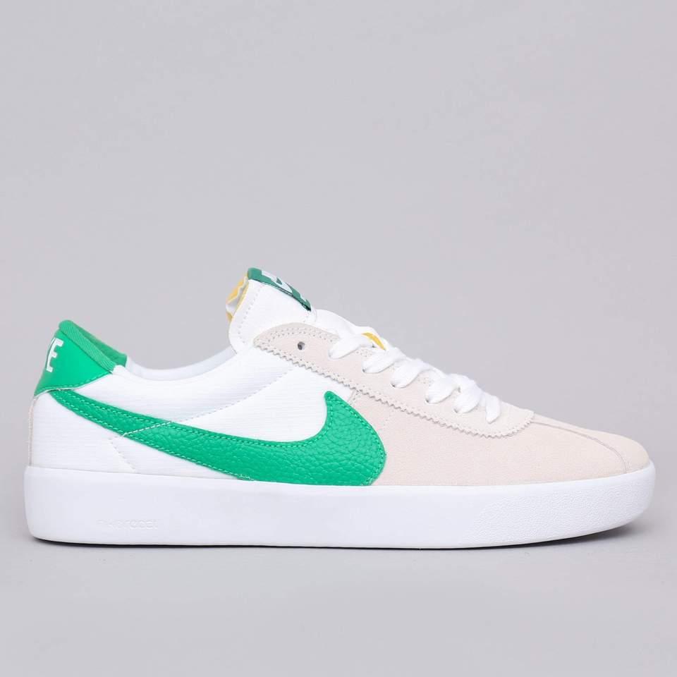 Nike SB Bruin React Shoes White / Lucky Green