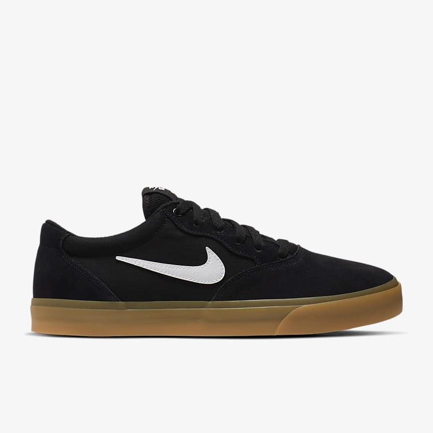 Nike SB Chron Solarsoft Shoes Black White Gum