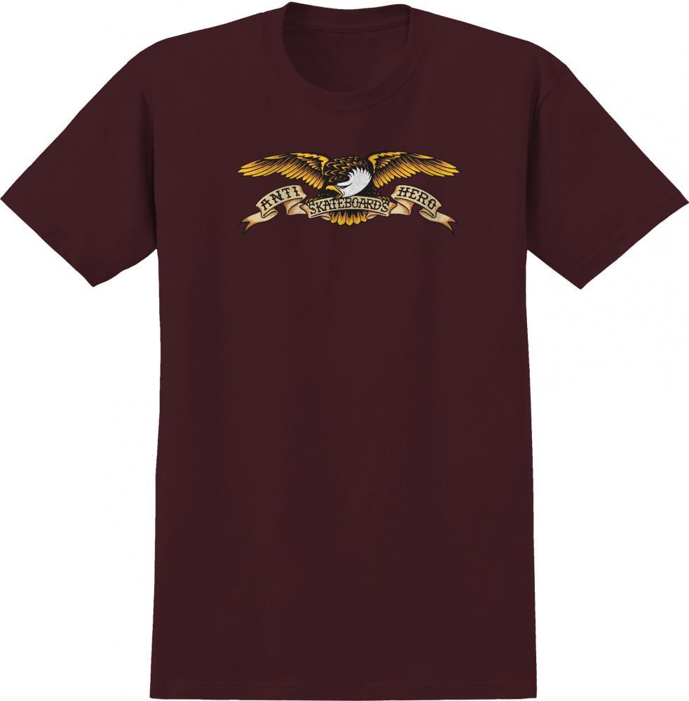 Anti Hero Eagle T-Shirt - Dark Maroon