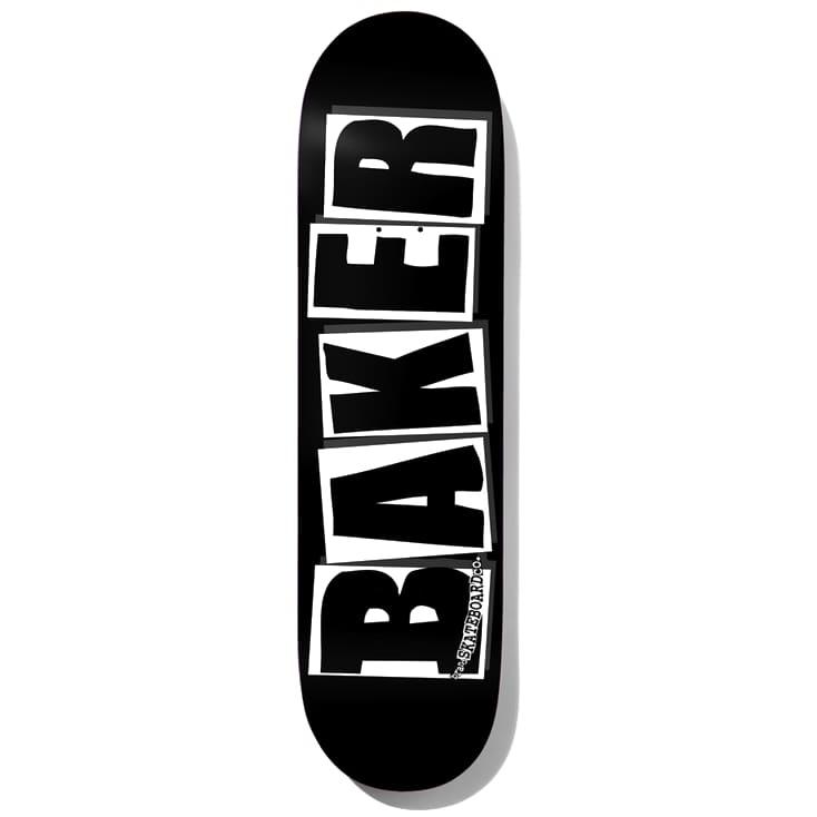 """Baker Logo Black/White Skateboard Deck - 8.125"""""""