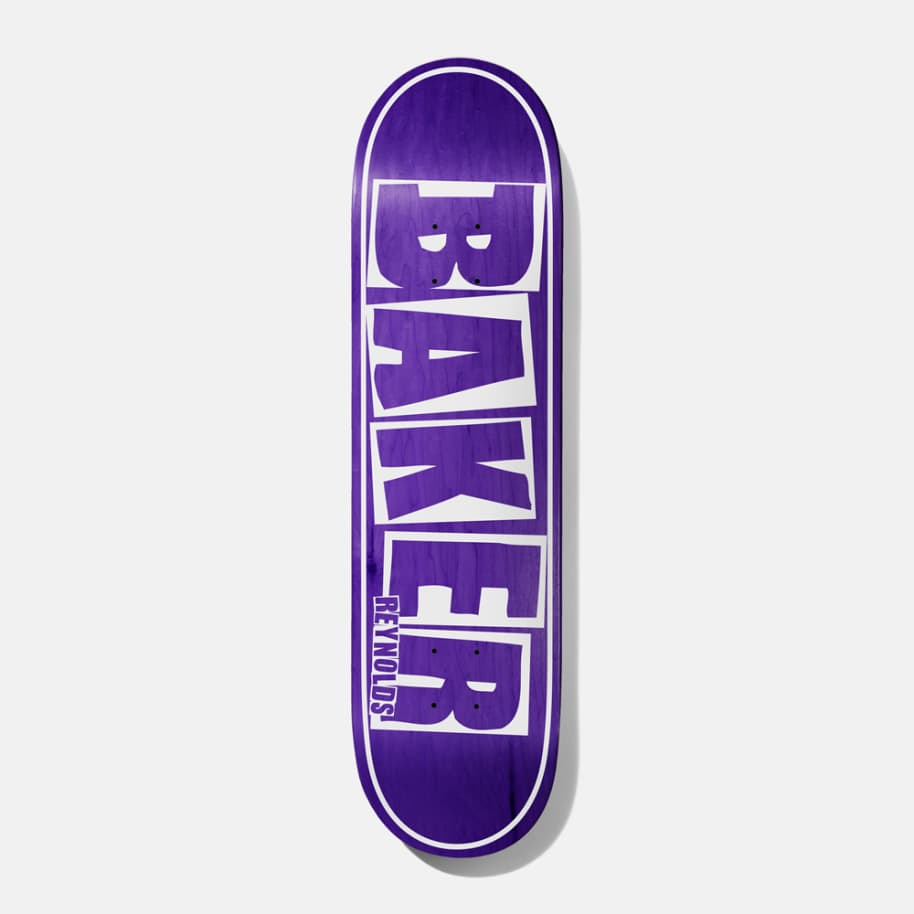 "Baker Skateboards Reynolds Logo Name Purple - 8.125"""