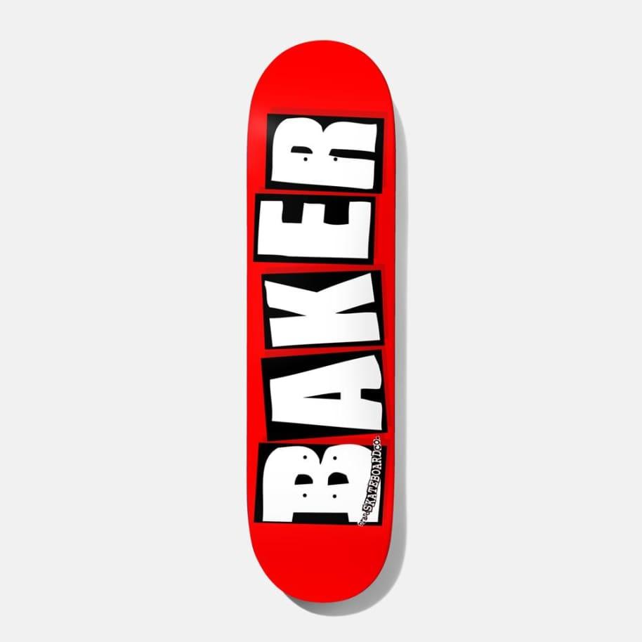 """Baker Logo Red/White Skateboard Deck - 8.38"""""""