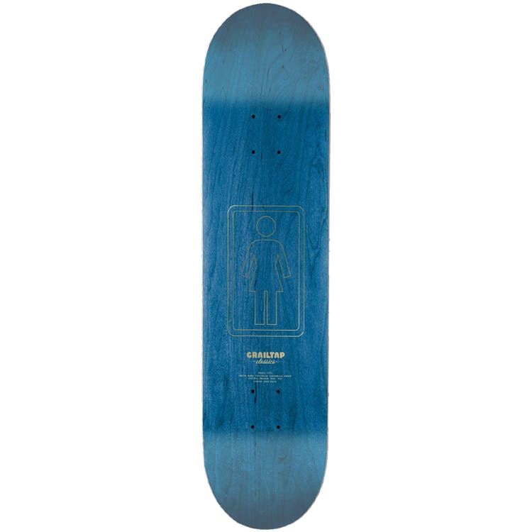 "Girl Pictograph Skateboard Deck Howard Orange - 8.25"""