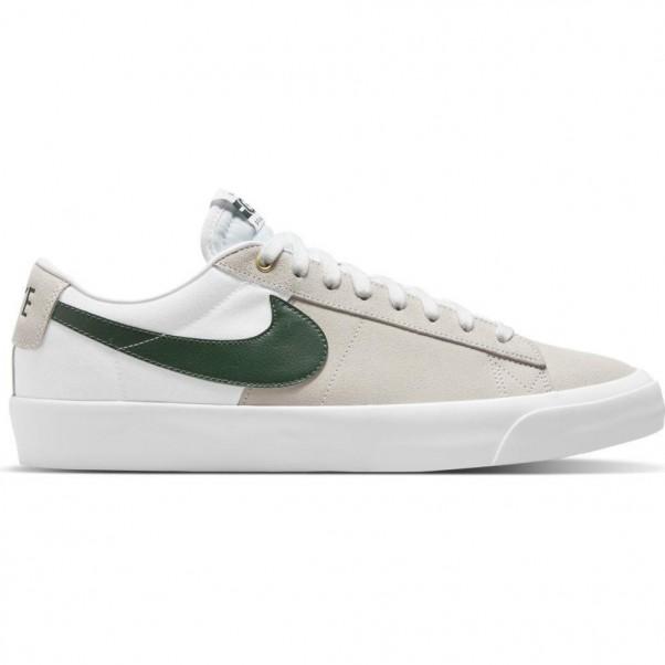 Nike Sb Blazer Low Pro GT White Fir Green White Gum Skate Shoes
