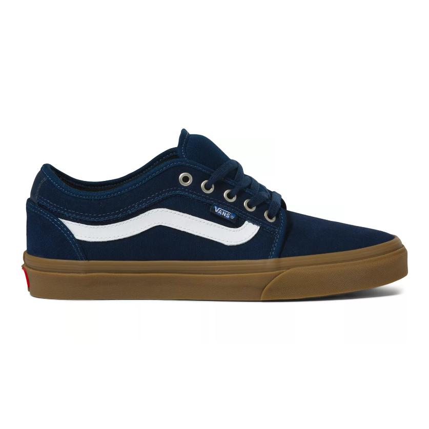 Vans Chukka Low Sidestripe Shoes - Navy / Gum